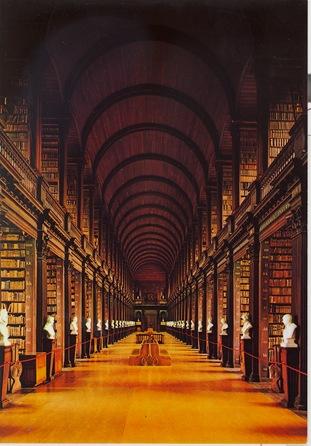 Trinity Library postcard