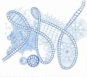 blue doodle 001